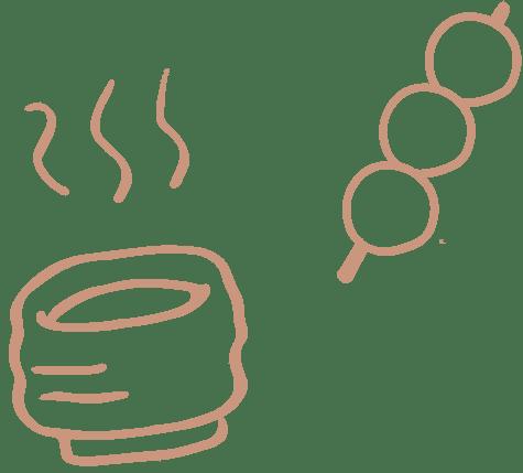 お茶とお団子のイメージ